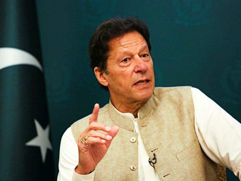 pakistan s prime minister imran khan gestures during an interview with reuters in islamabad pakistan june 4 2021 photo reuters