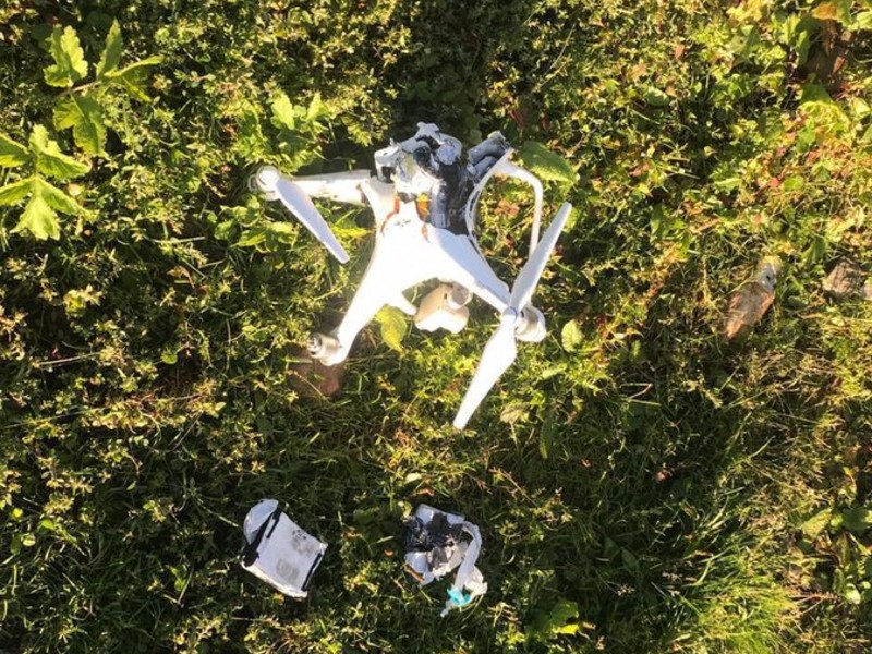 pakistan army shoots down indian spy quadcopter in ajk