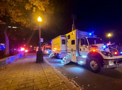 swordsman in medieval clothing kills two in quebec
