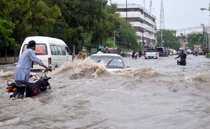 sinking system karachi hospitals flooded amid cloudburst