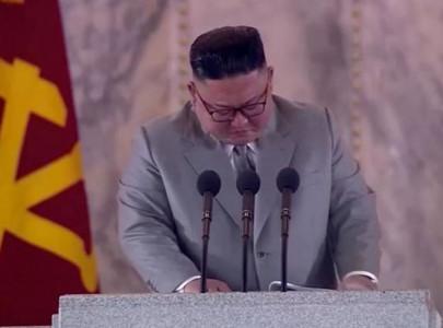 north korea s kim tearfully thanks troops apologises for failures