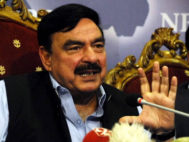 Minister for Railways Sheikh Rashid Ahmed. PHOTO: PPI/FILE