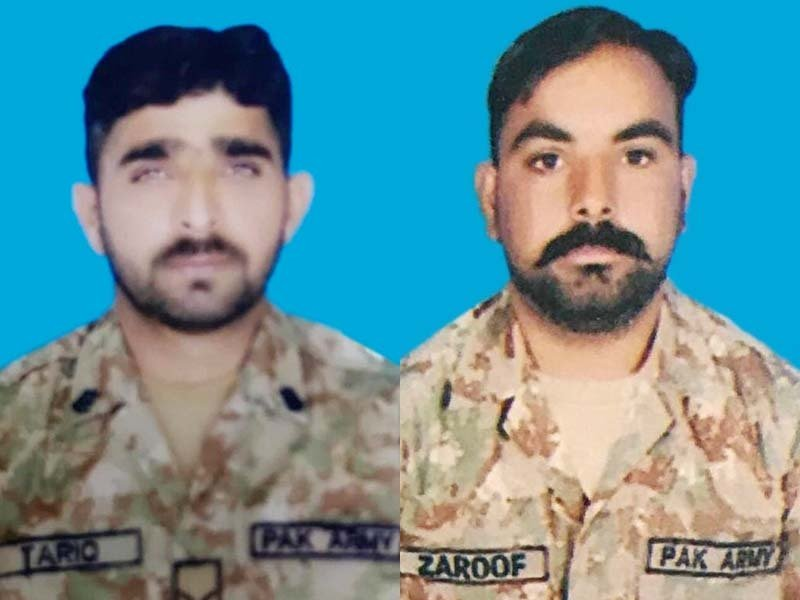 fighting valiantly against the indian aggression lance naik tariq and sepoy zaroof embraced martyrdom in khuiratta sector along the loc photo ispr