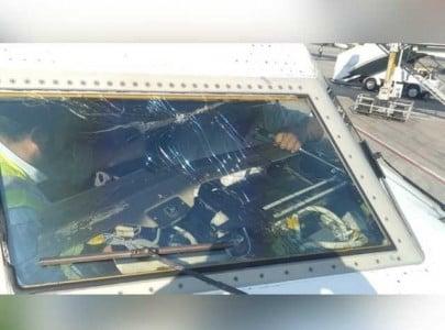 passenger flight suffers bird strike while landing at islamabad airport