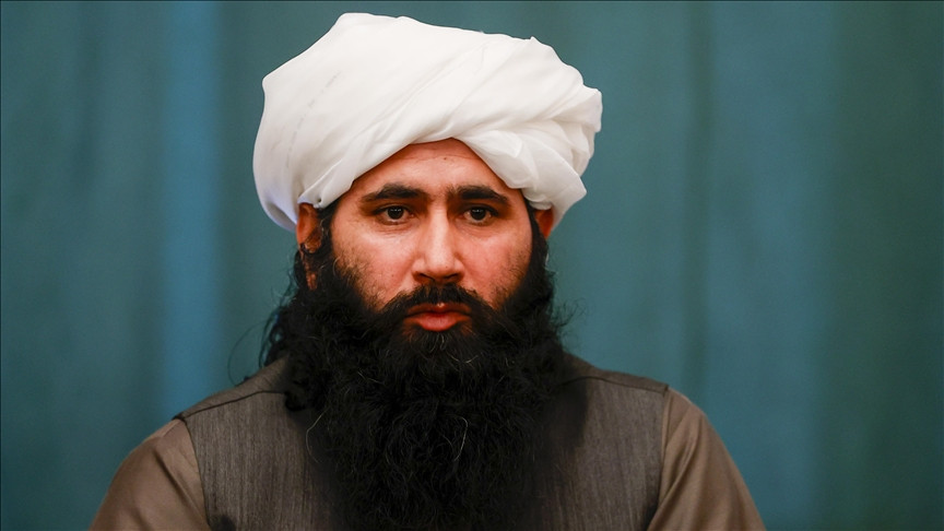 spokesman for the taliban s political office in qatar and a member of its negotiation team mohammad naeem speaks in an exclusive interview about the taliban s vision of the current situation and future of the afghan peace process in moscow russia on march 19 2021 photo anadolu agency