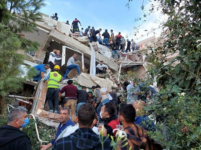 Six killed in Turkey as strong earthquake hits Aegean Sea