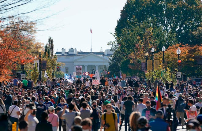 in pictures celebrations erupt across us over biden s historic election win