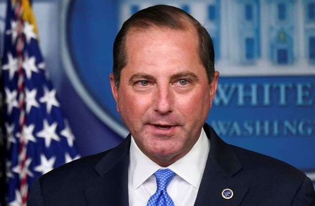 us health and human services hhs secretary alex azar speaks during a news conference in the brady press briefing room of the white house in washington us august 23 2020 picture taken august 23 2020 photo reuters