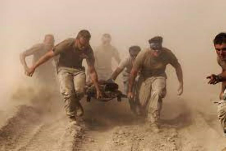 file photo members of the us navy carry a comrade wounded by an explosion to a medevac helicopter in kandahar province in southern afghanistan october 2 2010 reuters