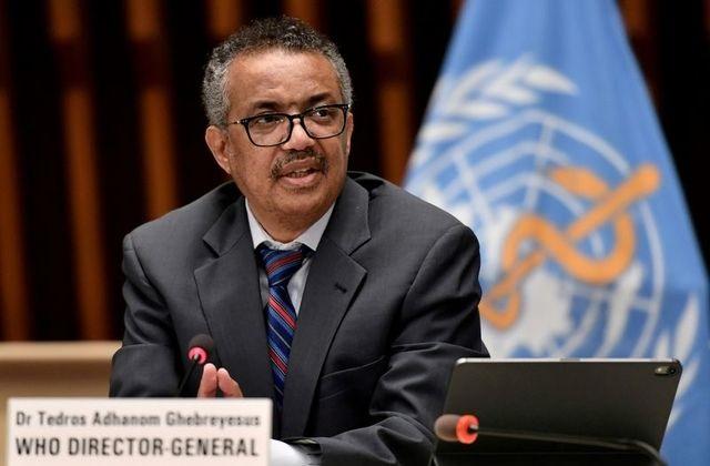 world health organization who director general tedros adhanom ghebreyesus attends a news conference in geneva switzerland july 3 2020 photo reuters