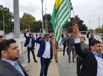 tek kiir workers protest outside unhrc office in geneva