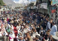 sit in for baba jan s release continues on second day in hunza