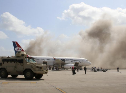 thirteen killed in attack on aden airport moments after new yemen cabinet lands
