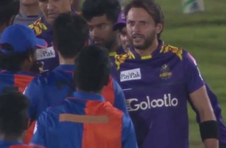 watch afridi erupts in anger on afghanistan pacer who abused amir