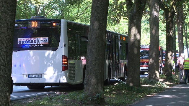 at least 14 injured in knife attack on german bus
