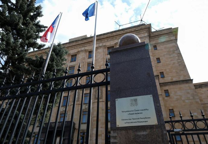 a view shows the embassy of the czech republic in moscow russia april 18 2021 reuters