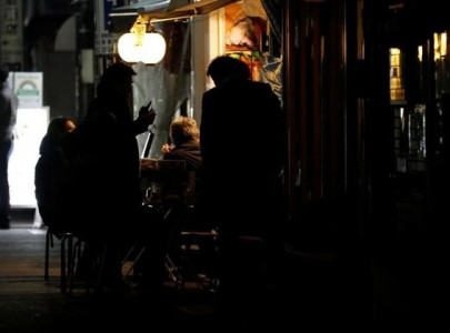 in tokyo s lockdown some drink on even after authorities call time