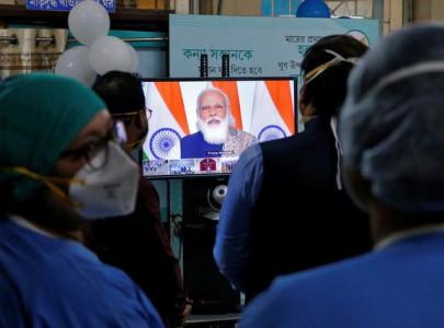 india s modi kicks off vaccination campaign among world s largest