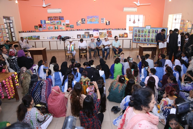budding student artists given a platform by zindagi trust