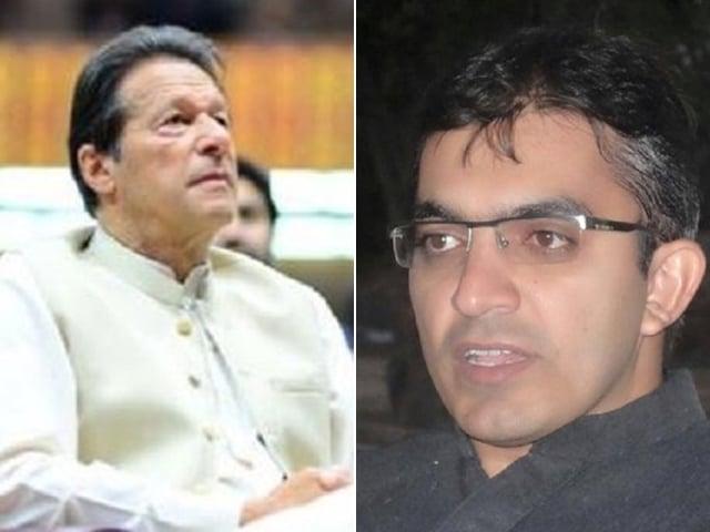 file photos of pm imran and mohsin dawar