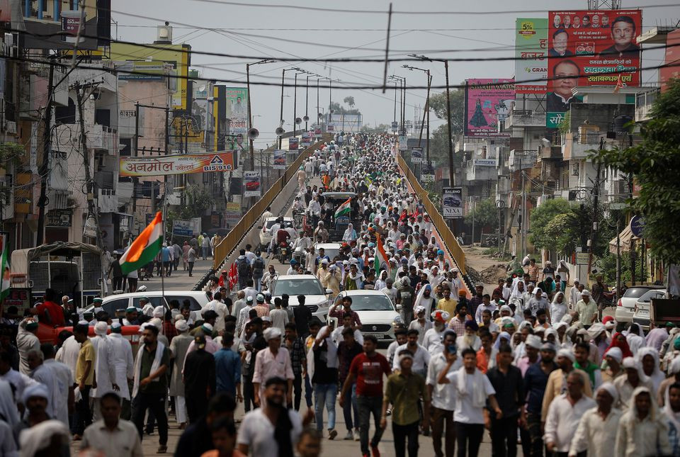 Millions of Indian farmers rallied against agricultural laws