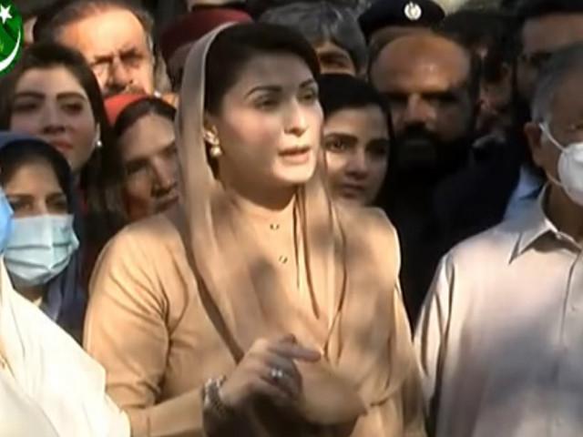 maryam nawaz during the media briefing screengrab
