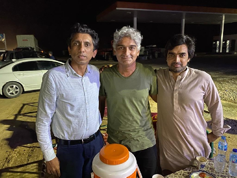 matiullah jan with journalist azaz syed and his brother shahid akbar photo social media