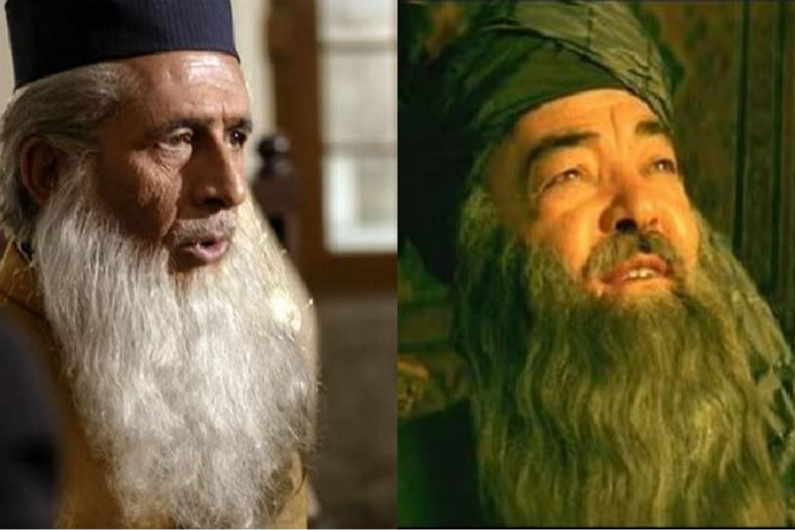 Maulana Wali (Naseeruddin Shah) and Maulana Tahiri (Rasheed Niaz) face off in court in the climactic scene of the film