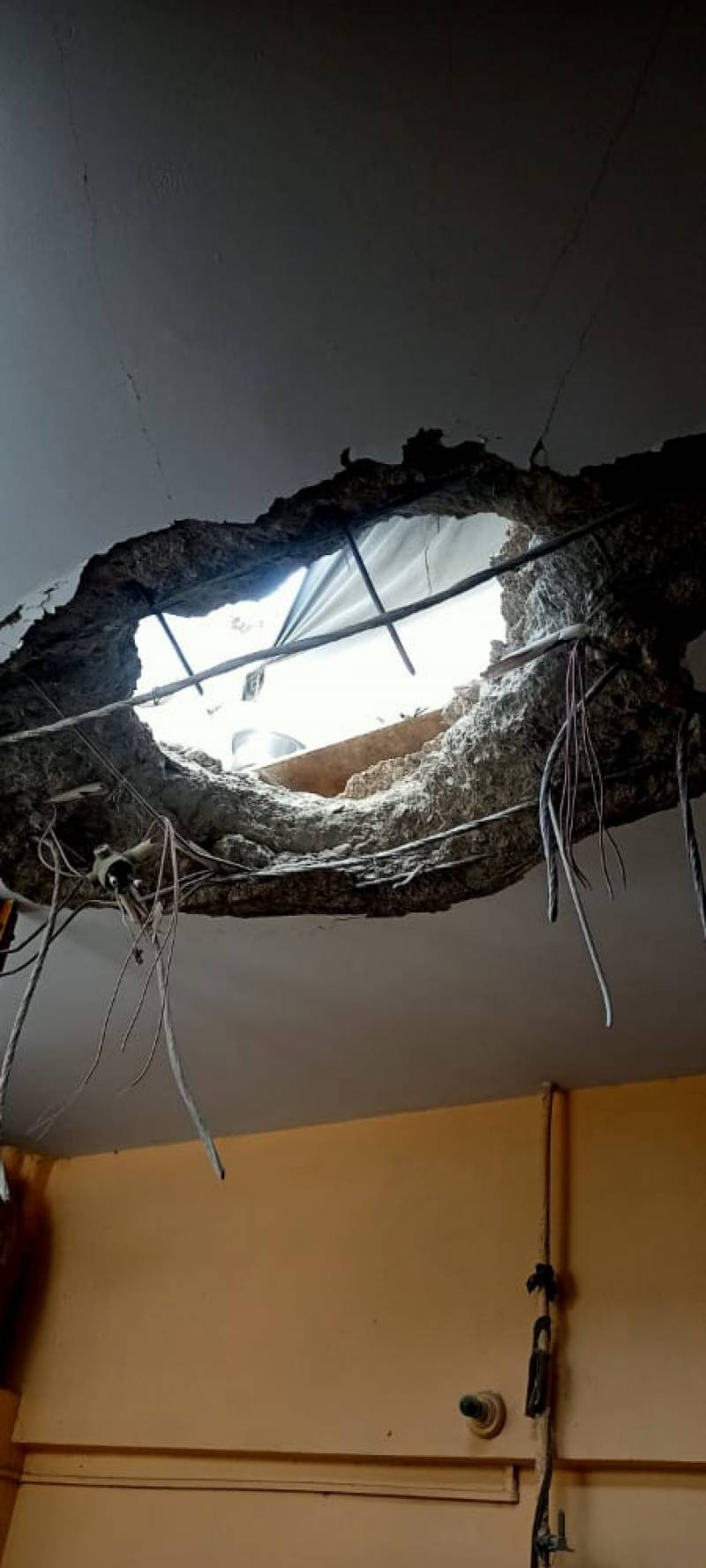 Rocks, strange objects from outer space fall in Karachi the metal parts fell from the sky at three locations including Pak Colony after an explosion that also caused damage to the factory.