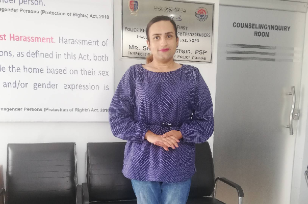 from victim to protector pakistan s first trans cop fights for justice