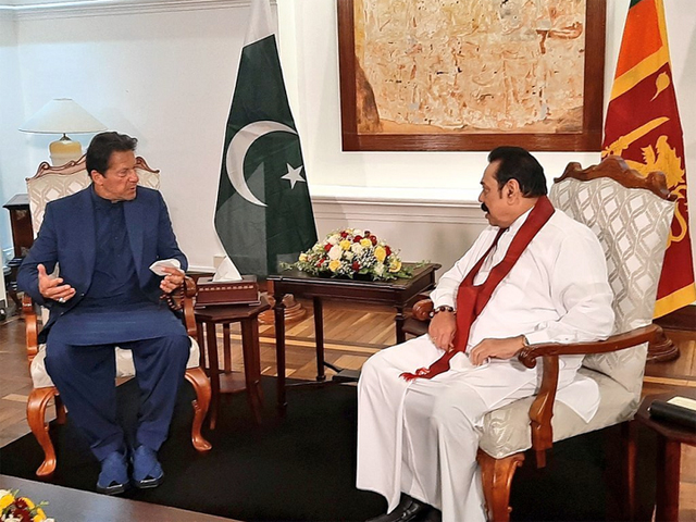 pm imran meets his sri lankan counterpart in colombo photo facebook imrankhanofficial