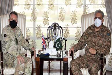 uk chief of defence gen sir nicholas patrick carter appreciated pakistan s sincere efforts for peace and stability in the region especially the afghan peace process the ispr reported photo ispr