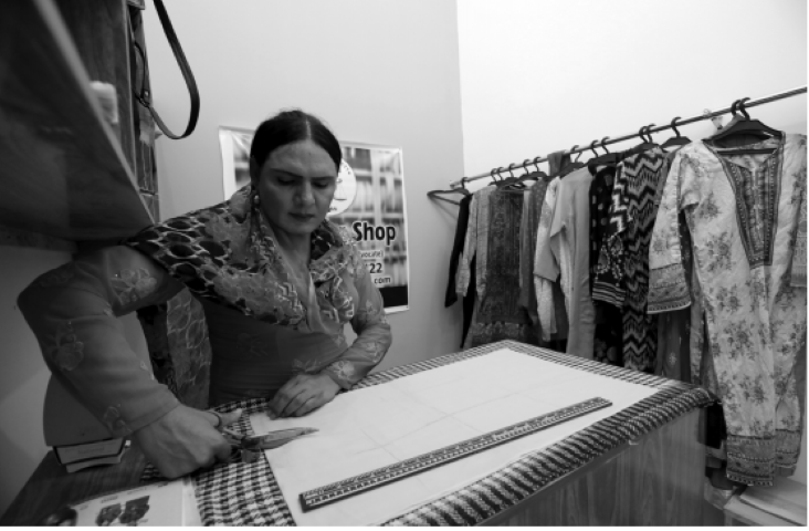 piecing together hope as jiya 35 cuts up pieces of cloth at the stitch shop her eyes gleam with the prospect of a busy ramadan and ambitions to expand her newly established tailoring business photos reuters
