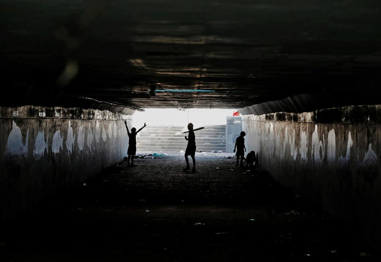 a reuters file image of kids playing in an underpass